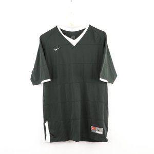 Nike Men's Large Black Striped Soccer Jersey